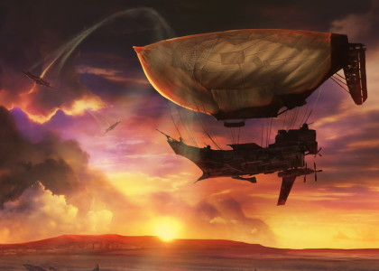 evening-airship